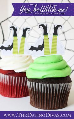Halloween cupcake toppers!