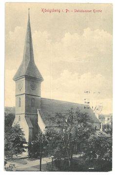 Seltene AK Königsberg in Preußen, Steindammer Kirche, 1915
