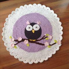 Owl mat crochet