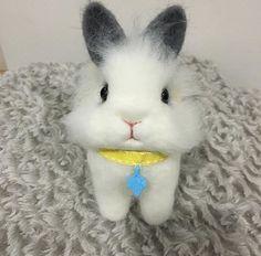 Needle felting wool cute animal bunny (Via @aunti_jack)