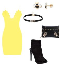"""#StopLightParty #Yellow #Mingling #CaliEvents"" by sweeetestgirl on Polyvore featuring Boohoo"