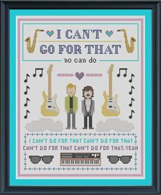 INSTANT DOWNLOAD Hall and Oates Cross Stitch Sampler - I Can't Go For That PDF on Etsy, $9.52 CAD