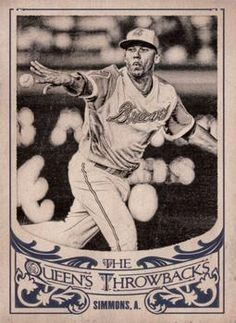 2015 Topps Gypsy Queen - The Queen's Throwbacks #QT-2 Andrelton Simmons Front