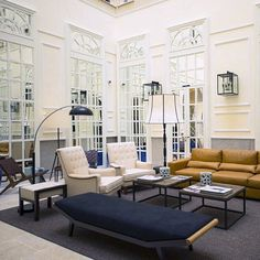 Barcelona-based interior designer Lázaro Rosa Violán created a fusion between the building's 19th century colonial traits with a modern Mediterranean style to conceive the contemporary, fashionable and warm ambiance of the Only You Hotel. |