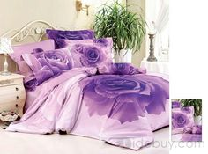 Purple Rose bedspread and sheets - now this I bet my mother would like!