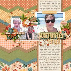 Kit: Summer's End by Kristin Cronin-Barrow & Zoe Pearn Template: Paper Lovin Vol 1 by Nettio Designs