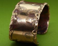 """Copper Cuff - 1 1/4"""" Wide - Recycled Copper - Copper Bracelet - Handmade - Copper Jewelry - Repurposed Copper"""