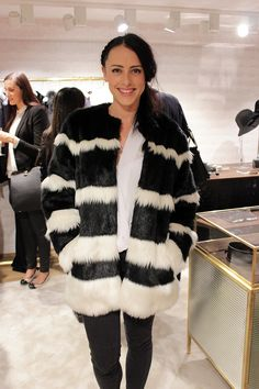 My it coat of A/W Pinko's black and white faux fur