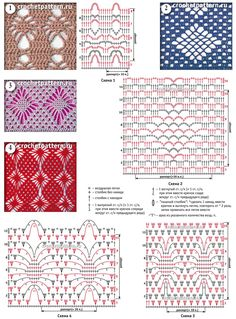 Página №89. Padrões e padrões para crochet.