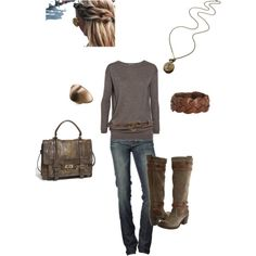Love this casual look! The boots and bag are amazing!