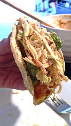 Here's an experiment for my Monday night dinner. Last week I watched Food Network's Anne Burrell make fish tacos. I love spicy fish wrapped up in atortillawith a cool coleslaw –…