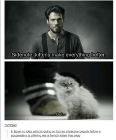 I would be more than okay with an attractive beardy fellow giving me a french kitten