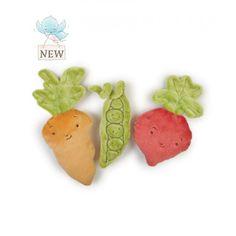 Peas & Love Veggie Rattles Books & Toys #rattles #vegetables #softtoys #babytoys #gardentheme #garden #peas&lovecollection #easter