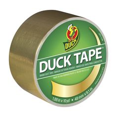Color Duck Tape® - Gold http://duckbrand.com/products/duck-tape/colors/standard-rolls/gold-188-in-x-10-yd?utm_campaign=color-duck-tape-general&utm_medium=social&utm_source=pinterest.com&utm_content=color-duct-tape