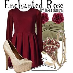 """Enchanted Rose"" by lalakay on Polyvore #disney"