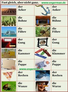 German Vocabulary - Fast gleich, aber nicht ganz 4 http://www.engerman.de/2014/12/german-vocabulary-fast-gleich-aber.html