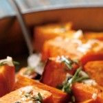 Roasted Sweet Potatoes with Rosemary Honey Vinaigrette