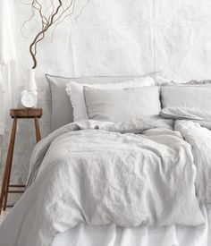 Washed linen bedding now available from - http://www.naturalbedcompany.co.uk/shop/natural-cotton-bedding/linen-bedding/