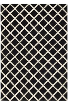 $5 Off when you share! Safavieh Chatham CHT718 Black Ivory Rug   Contemporary Rugs