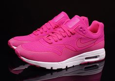 Neon Pink and White ❤️ #Nike #AirMax