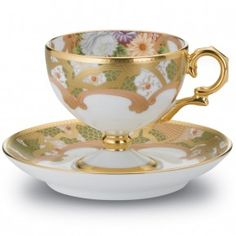 "Chrysanthemum Cup, 4 1/4 oz. & Saucer, 5""                                                                                                                                                                                 More"