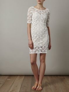 Mallory, this is cute too! Pretty white lace dress