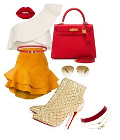 """""""Slay"""" by teneshiacampbell on Polyvore featuring Isabel Marant, Siobhan Molloy, Christian Louboutin, Hermès, Victoria Beckham and Charlotte Russe"""