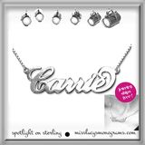 Sterling Name Necklace in Script
