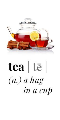 Tea is a hug in a cup // pipwestco