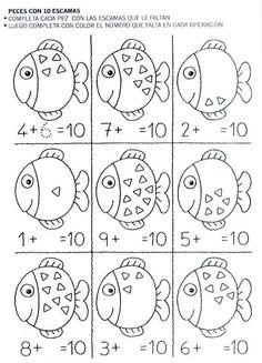 Large group math activity to help find the missing part. Kindergarten Math Activities, Preschool Math, Kindergarten Worksheets, Teaching Math, 1st Grade Worksheets, 1st Grade Math, Math For Kids, Fun Math, Math Addition