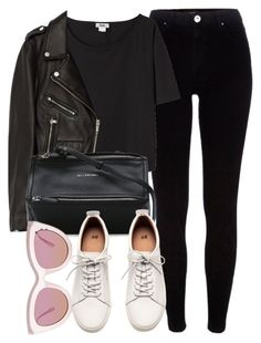 """Untitled #6862"" by laurenmboot ❤ liked on Polyvore featuring River Island, Acne Studios, Jakke, Givenchy, Quay and H&M"