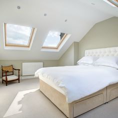 Landmark Lofts has chosen this photograph of a dormer loft conversion bedroom in SW13