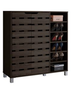 Simms White Modern Shoe Cabinet - Overstock™ Shopping - Great ...