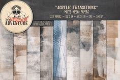 On sale - Acrylic Painted Papers. Textures. $7.00