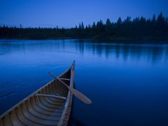 A Canoe on Maines Allagash River Photographic Print by Michael Melford at Art.com