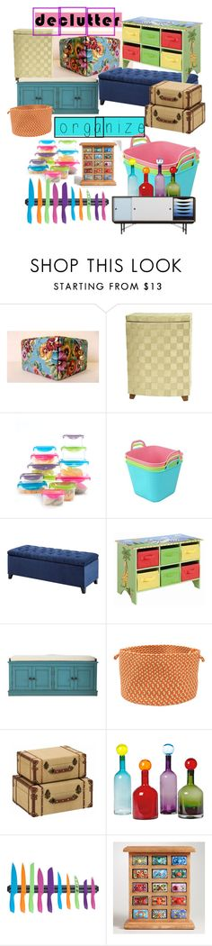 """""""Organize & Declutter in Color!!"""" by mdfletch ❤ liked on Polyvore featuring interior, interiors, interior design, home, home decor, interior decorating, Cooks Tools, Madison Park, Teamson Design and Home Decorators Collection"""