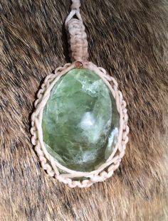 A personal favorite from my Etsy shop https://www.etsy.com/listing/248487758/handmade-polished-green-fluorite-macrame