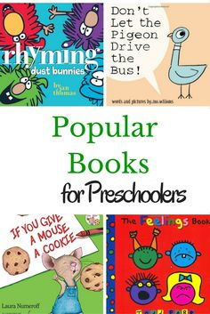 See what teachers and parents say are the most popular books for preschoolers of all-time! A giant list of books to read to preschoolers.
