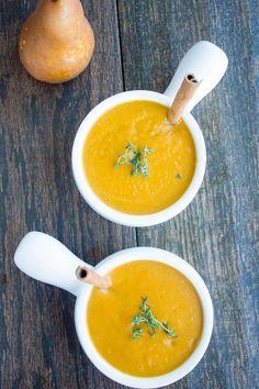 Mediterranean Pear Cinnamon Squash Soup--Fresh, flavorful and comforting!
