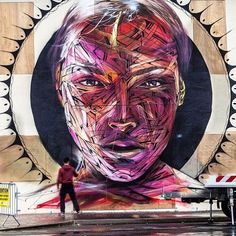 New York Street Art by @hopare1 #abstract #abstractart #streetart #instagood #instalove #design #colors #colorful #collage #graphics #graphicdesign #fineart #artist #instadaily #love #loveit #newyork #abstrait