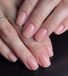french nails ombre Awesome - french nails ombre Awesome - french nails ombre Awesome – french nails ombre Awesome – french n - French Acrylic Nails, French Tip Nails, Short French Nails, Really Cute Nails, Pretty Nails, Oval Nails, Pink Nails, Nail Manicure, Nail Polish