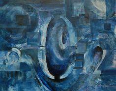"Code Blue 302, Acrylic Mixed Media on Panel  20"" x 24""  (2011)."