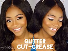 Glitter Cut Crease Makeup Look | Beauty With Vee ♡