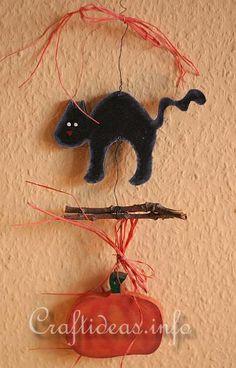Scroll Saw Project - Black Cat and Pumpkin Chain