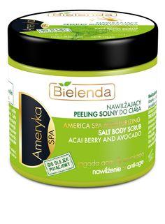 Bielenda AMERICA body salt scrub 200ml BI194405 | Visagist Salt Body Scrub, Coconut Oil, Berry, Moisturizer, Cosmetics, America, Moisturiser, Bury, Usa