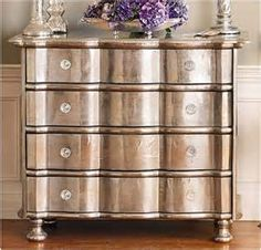 Rustoleum Satin Nickel Spray Paint with pink drawers and blk/wht ...