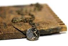 """Antique Unicorn Necklace """"Awake in Dreams"""" by ChatterBlossom Unicorn Jewelry, Unicorn Necklace, Jewelry Box, Man Jewelry, Magic Charms, Fantasy, Brass Chain, Mythical Creatures, Unicorns"""