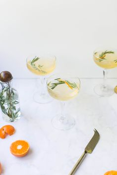Rosemary Clementine Prosecco | by Beth Kirby | A special bubbly drink for the new year?