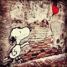 Padova, but must be Banksy inspired. Snoopy Love, Charlie Brown And Snoopy, Snoopy And Woodstock, Banksy, Peanuts Cartoon, Peanuts Snoopy, Beagle, Photo Triste, Snoopy Quotes