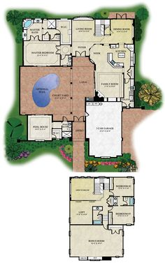 Courtyard House Plans | House Plans by Garrell Associates, Inc
